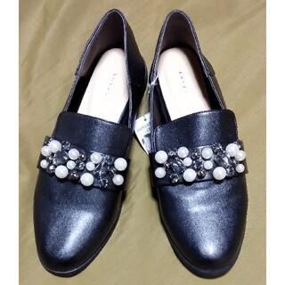 ジェリービーンズ(JELLY BEANS)のジェリービーンズビジュー装飾オペラシューズL新品タグ無24センチ(ローファー/革靴)