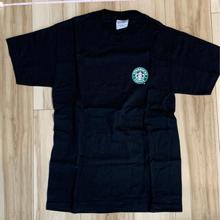 スターバックスコーヒー(Starbucks Coffee)のスターバックス 旧ロゴ ブラックTシャツ(Tシャツ/カットソー(半袖/袖なし))