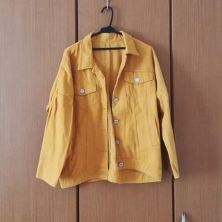 ウィゴー(WEGO)のイエローのデニムジャケット Gジャン(Gジャン/デニムジャケット)