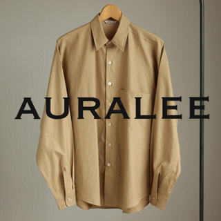 COMOLI - AURALEE / WASHED FINX TWILL BIG SHIRTS