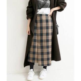 IENA - IENA ウールチェックアシンメトリースカート