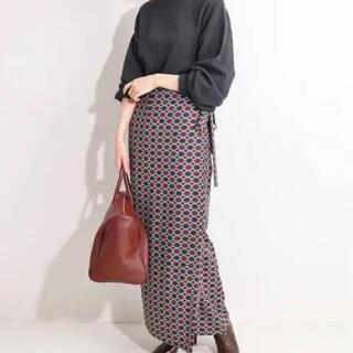 IENA - IENA LA BOUCLE ローププリントラップスカート