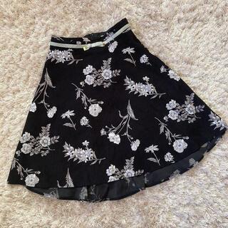 セシルマクビー(CECIL McBEE)の今週限定 flower skirt(ひざ丈スカート)