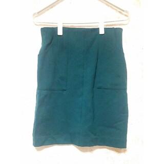 イェッカヴェッカ(YECCA VECCA)のイェッカヴェッカタイトスカート 深緑グリーン イエッカヴェッカ(ひざ丈スカート)