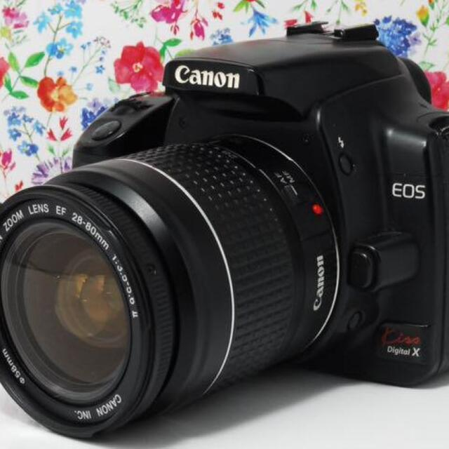 Canon(キヤノン)の◆初心者に超人気◆Canon kiss x レンズセット スマホ/家電/カメラのカメラ(デジタル一眼)の商品写真