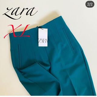 ZARA - 新品 XL ザラ ハイウエストパンツ グリーン