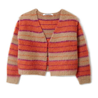 BEAUTY&YOUTH UNITED ARROWS - パーバーズ Stripe Mohair Wide Cardigan