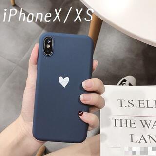 大人気!iPhoneX iPhoneXS ケース カバー オータム ネイビー(iPhoneケース)