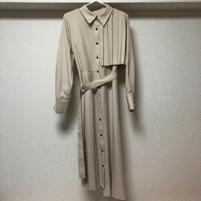 STUDIOUS(ステュディオス)のunited tokyo   アシメプリーツシャツ ワンピース レディースのワンピース(ロングワンピース/マキシワンピース)の商品写真