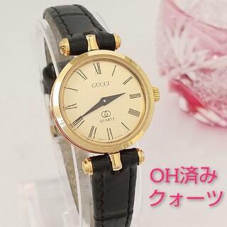 Gucci - ⭐OH済 綺麗 グッチ シェリー 新品レザー レディース 腕時計 着物 美品