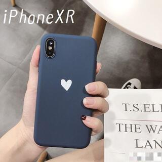 大人気!iPhoneXR ケース カバー オータムカラー ネイビー(iPhoneケース)