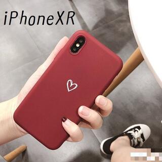大人気!iPhoneXR ケース カバー オータムカラー ボルドー(iPhoneケース)
