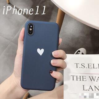 大人気!iPhone11 ケース カバー オータムカラー ネイビー(iPhoneケース)