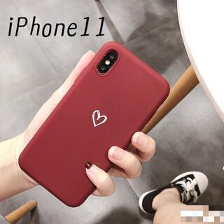 大人気!iPhone11 ケース カバー オータムカラー ボルドー(iPhoneケース)