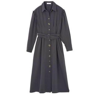 Two-Tone Belted Shirt Dress    herlipto