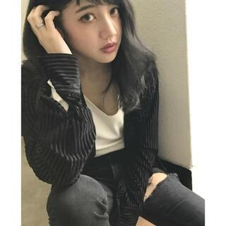 ジェイダ(GYDA)のGYDA♡シアーシャツ♡ストライプ(シャツ/ブラウス(長袖/七分))
