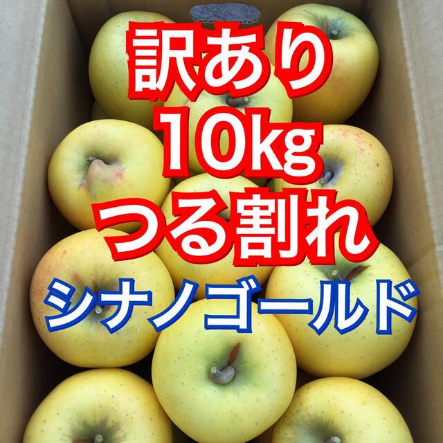 【送料込】訳あり葉とらずりんご シナノゴールド 約10kg 食品/飲料/酒の食品(フルーツ)の商品写真