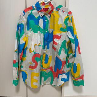 Supreme - 20SS Supreme Painted Logo Shirt Natural