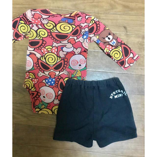 HYSTERIC MINI(ヒステリックミニ)の専用ヒステリックミニ ロンパース パンツ 80 2点 キッズ/ベビー/マタニティのベビー服(~85cm)(ロンパース)の商品写真