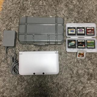 任天堂 - 3DS LL 本体充電器メタルケースカセットセット