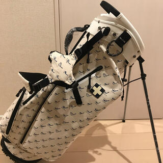 木の庄帆布 - 木の庄帆布 キャディバッグ スタンド型 白 モノグラム 2021年モデル