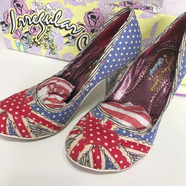 Vivienne Westwood(ヴィヴィアンウエストウッド)のイレギュラーチョイス ユニオンジャックパンプス ロンドン購入 レディースの靴/シューズ(ハイヒール/パンプス)の商品写真