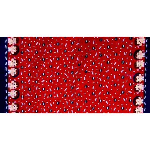 専用になります ペコちゃん ポコちゃん オックス生地 赤 100×200㎝ ハンドメイドの素材/材料(生地/糸)の商品写真