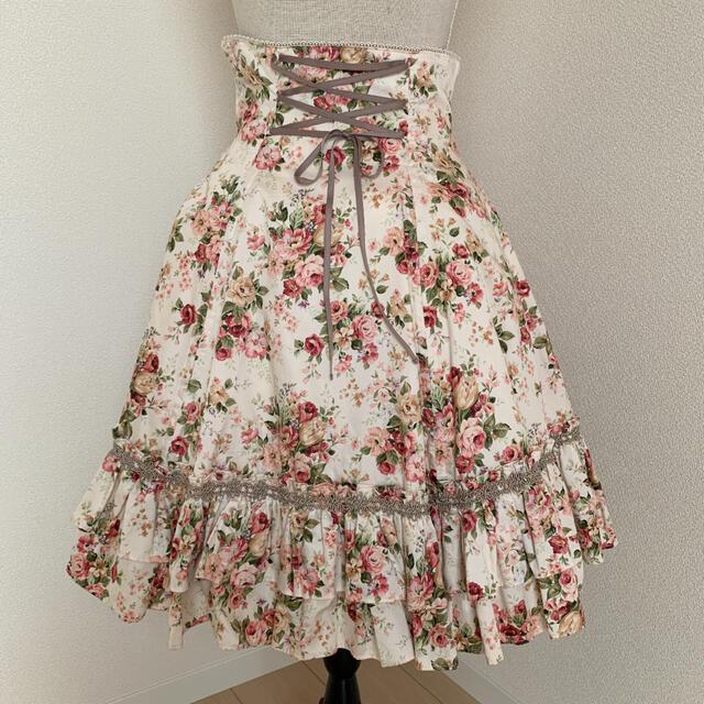 Victorian maiden(ヴィクトリアンメイデン)のVictorian maiden ロココブーケバッスルスカート(ピーチ) レディースのスカート(ひざ丈スカート)の商品写真
