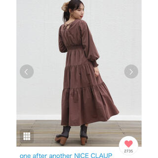one after another NICE CLAUP - NICECLAUP ティアードロングワンピース