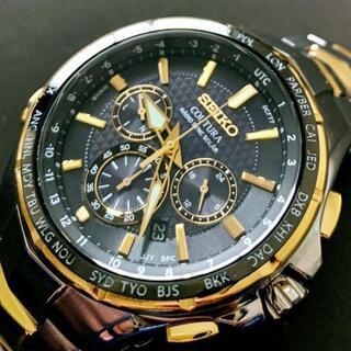 セイコー(SEIKO)の【新品】SEIKO 電波ソーラー クロノグラフ セイコー メンズ 腕時計(腕時計(デジタル))
