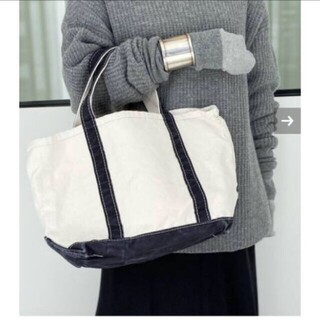 アパルトモンドゥーズィエムクラス(L'Appartement DEUXIEME CLASSE)のL.L.BEAN Canvas tote bag M ブラック(トートバッグ)