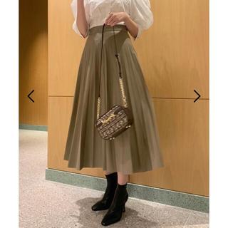 snidel - 《新品、未使用》SNIDEL レザープリーツスカート