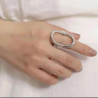 ヴィンテージ風リング サークルリング 指輪 シルバー【新品未使用】(リング(指輪))