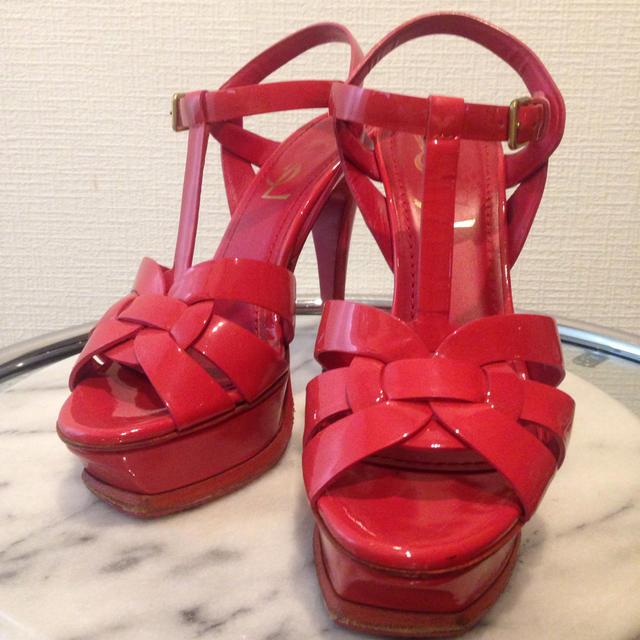 Saint Laurent(サンローラン)の美品 イブ サンローランサンダル レディースの靴/シューズ(サンダル)の商品写真