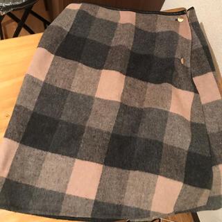 ロペ(ROPE)のROPE リバーシブル ウールスカート(ひざ丈スカート)