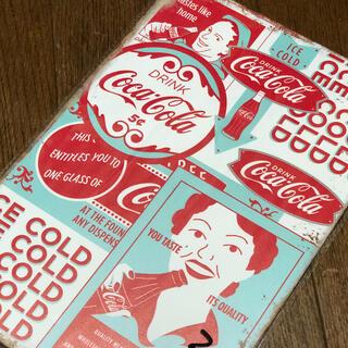 コカコーラ(コカ・コーラ)のコカコーラ Tastes Like Home ブリキ看板(ソフトドリンク)