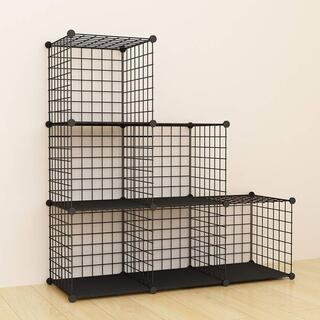 SIMPDIY 本棚 大容量 整理棚 ワイヤー収納ラック 組み立て式 1419