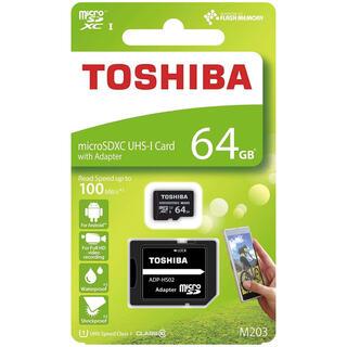 トウシバ(東芝)の【新品】microSD 64GB TOSHIBA アダプター付(その他)