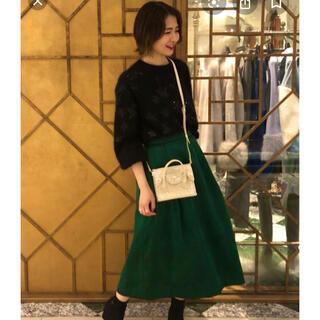 GRACE CONTINENTAL - グレースコンチネンタル カラミキカスカート緑