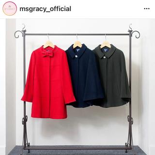 エムズグレイシー(M'S GRACY)のエムズグレイシー  コート リボン 赤(ロングコート)