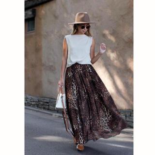 ルームサンマルロクコンテンポラリー(room306 CONTEMPORARY)の完売品 レオパードスカート(ロングスカート)