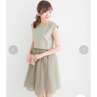 アーバンリサーチロッソ(URBAN RESEARCH ROSSO)の3WAYチュチュ付 ドレス(ミディアムドレス)