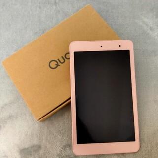 キョウセラ(京セラ)のau Qua tab 01 KYT31 ピンク(タブレット)