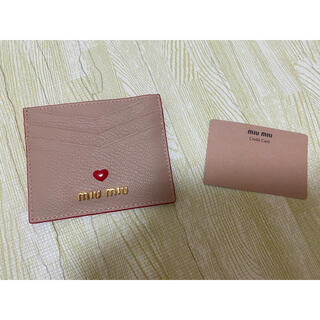 miumiu - Miumiu ミュウミュウ カードケース ピンク