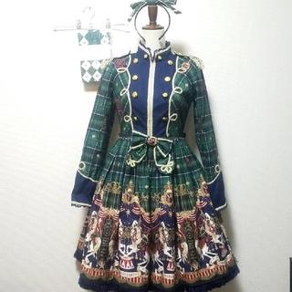 Angelic Pretty - シルク ド エトワール ワンピース チェック 緑 グリーン セット カチューシャ