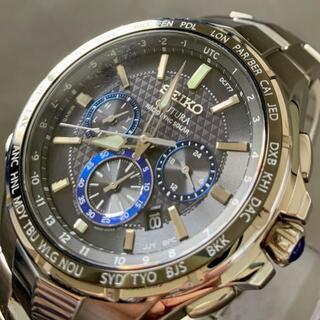 セイコー(SEIKO)の【極美品】セイコー 電波ソーラー クロノグラフ SEIKO メンズ腕時計(腕時計(デジタル))