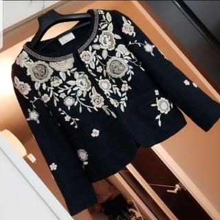 GRACE CONTINENTAL - 素敵❤️刺繍ジャケット クリスチャンラクロワ ミナペルホネン マメ ケンゾー