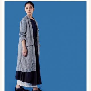 ミナペルホネン(mina perhonen)のPOOL いろいろの服 アトリエコート ストライプ レディース(その他)