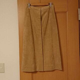 ロペ(ROPE)の美品 ROPE スエード タイトスカート ベージュ(ロングスカート)