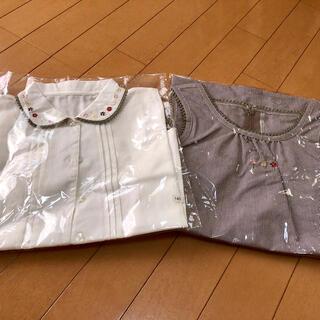 フェリシモ(FELISSIMO)のフェリシモ 子供服 140cm ジャンパースカートと半袖ブラウスのセット(ワンピース)